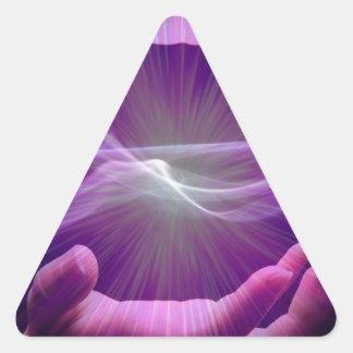 magical hands triangle sticker