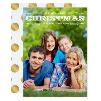 Magical Holiday, Custom Photo Card
