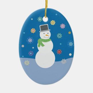 Magical Holiday Season Ceramic Oval Decoration