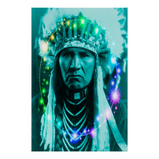 Magical Indian Chief Print