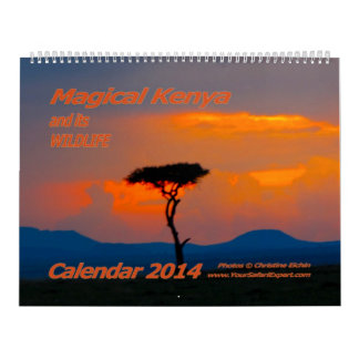 Magical Kenya and its Wildlife Calendar 2014 2-Pg.
