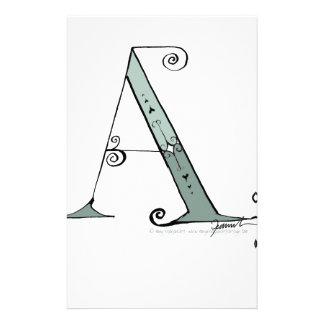 Magical Letter A from tony fernandes design Stationery Paper