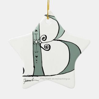 Magical Letter B from tony fernandes design Ceramic Star Decoration