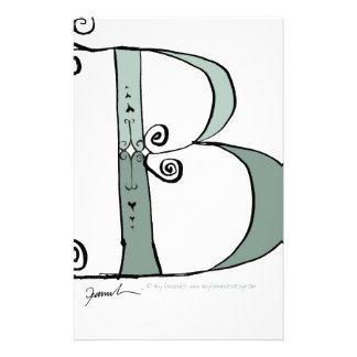 Magical Letter B from tony fernandes design Customized Stationery