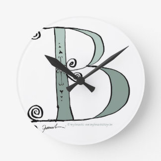 Magical Letter B from tony fernandes design Round Clock