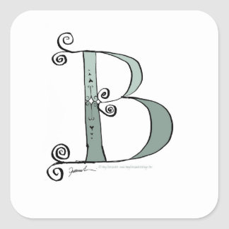 Magical Letter B from tony fernandes design Square Sticker