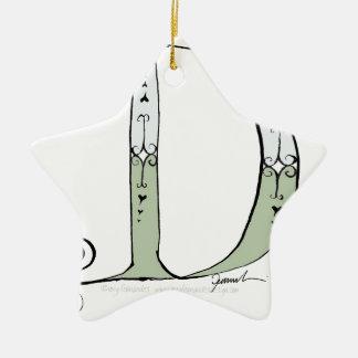Magical Letter D from tony fernandes design Ceramic Star Decoration