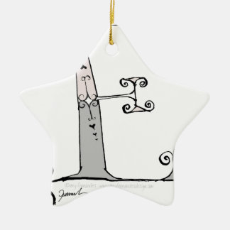 Magical Letter E from tony fernandes design Ceramic Star Decoration
