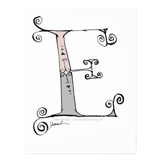 Magical Letter E from tony fernandes design Postcard
