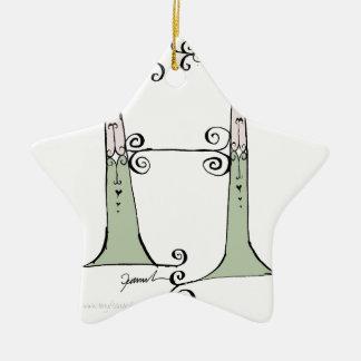 Magical Letter H from tony fernandes design Ceramic Star Decoration