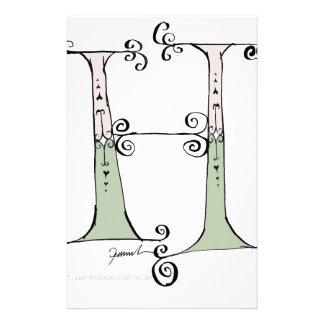 Magical Letter H from tony fernandes design Stationery Design