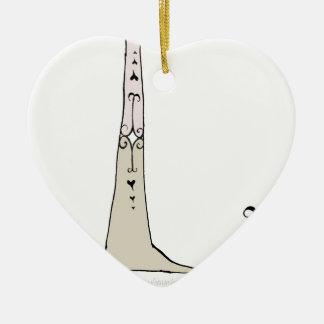 Magical Letter L from tony fernandes design Ceramic Heart Decoration