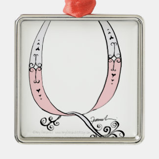 Magical Letter Q from tony fernandes design Silver-Colored Square Decoration