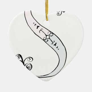 Magical Letter S from tony fernandes design Ceramic Heart Decoration