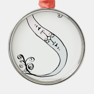 Magical Letter S from tony fernandes design Silver-Colored Round Decoration
