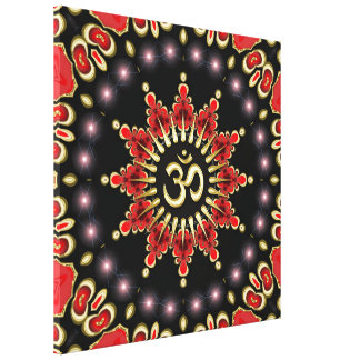 Magical Light Aum Star New Age Wrapped Canvas Canvas Print