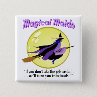 Magical Maids Witch Button