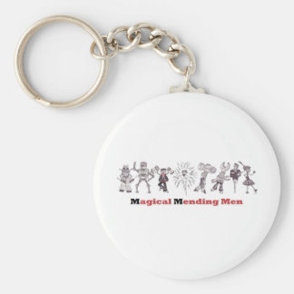 magical mending men basic round button key ring