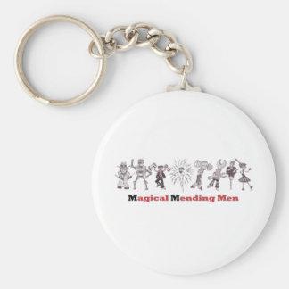 magical mending men basic round button key ring