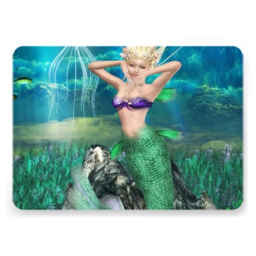 Magical Mermaid Personalized Invitations