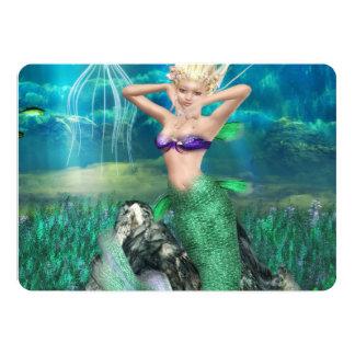 Magical Mermaid 13 Cm X 18 Cm Invitation Card