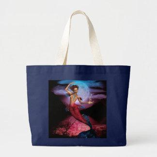 Magical Mermaid Moon Large Tote Bag