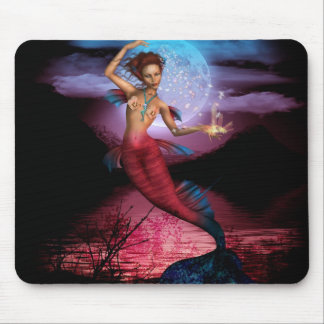 Magical Mermaid Moon Mousepad