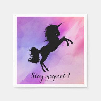 Magical message unicorn detail napkins paper napkins