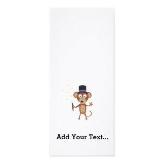 magical monkey 10 cm x 24 cm invitation card