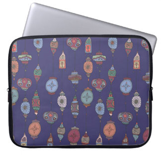 Magical Moroccan Lanterns Purple Laptop Sleeve