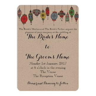 Magical Moroccan Lanterns Wedding Invitation