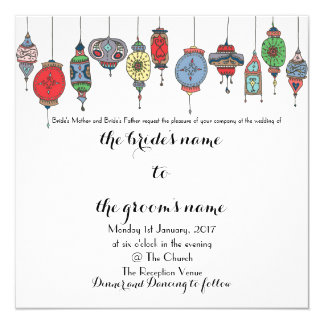 Magical Moroccan Lanterns Wedding Invitation