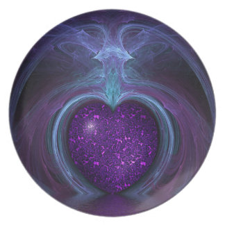 Magical & Mystical Fantasy Flame Of The Heart Plate