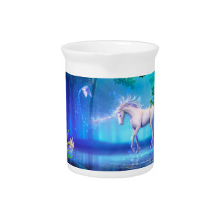 Magical & Mystical Fantasy UnicornsThe Blue Forest Pitcher