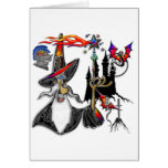 Magical Mystical Fire Wizard Magician Cards
