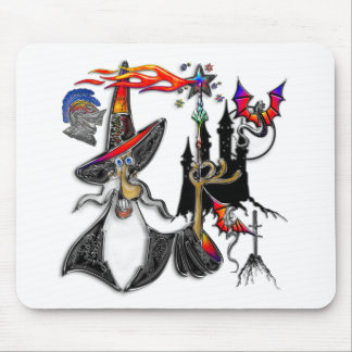 Magical Mystical Fire Wizard Magician Mouse Pad