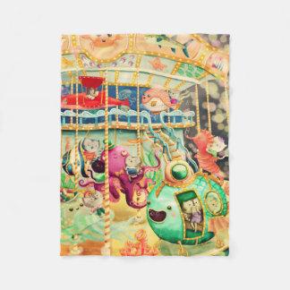 Magical Nautical Carousel Fleece Blanket