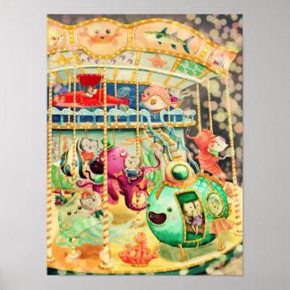 Magical Nautical Carousel Poster