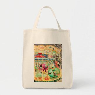 Magical Nautical Carousel Tote Bag