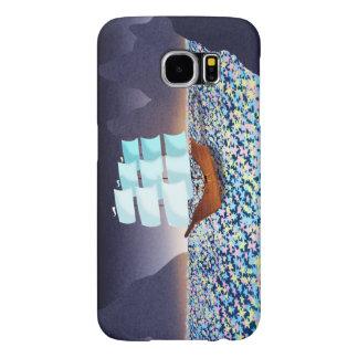 "Magical Ocean Boat Art ""Sea of Stars"" Samsung Galaxy S6 Cases"