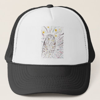 Magical Owl Colourful Watercolour Painting Trucker Hat