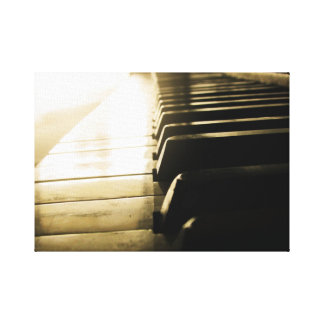 Magical Piano Stretched Canvas Print