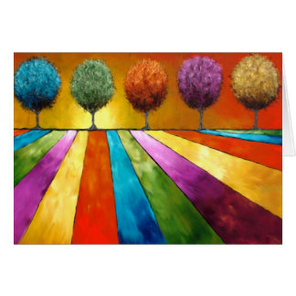 Magical Place Landscape Art Greeting Card
