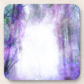 Magical Portal in the Forest Beverage Coaster