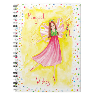 Magical Princess Fairy Wishes Spiral Note Book