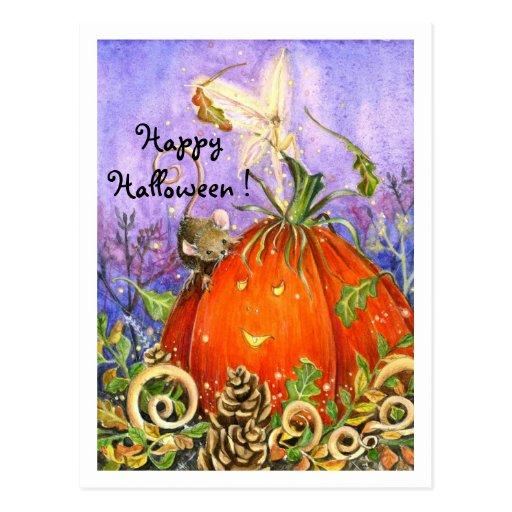 Magical Pumpkin and Little Friends Post Cards