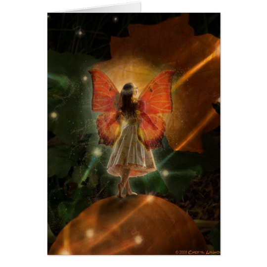 Magical Pumpkin Fairy Card