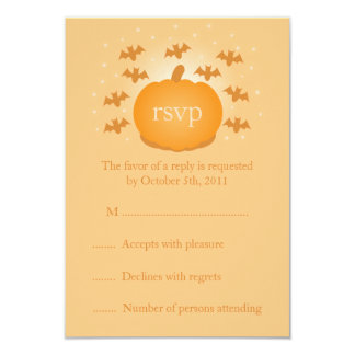Magical Pumpkin Wedding RSVP Response Card
