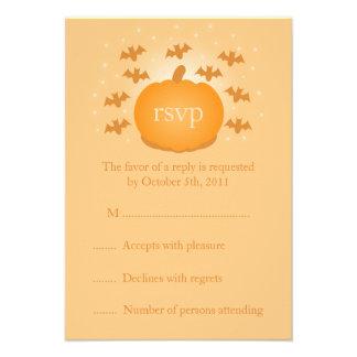 Magical Pumpkin Wedding RSVP Response Card Invitation