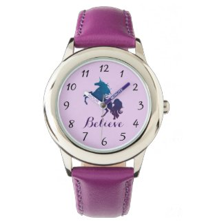 Magical Purple and Blue Rearing Unicorn | Believe Watch